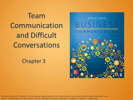 Team Communication and Difficult Conversations