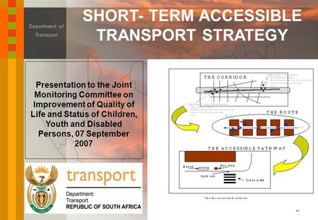 SHORT- TERM ACCESSIBLE TRANSPORT STRATEGY Department of Transport Presentation to the Joint Monitoring Committee on Improvement of Quality of Life and.