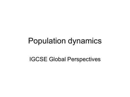 IGCSE Global Perspectives