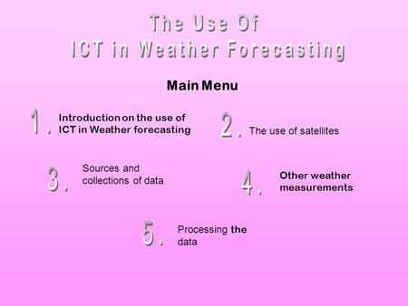 ICT in Weather Forecasting
