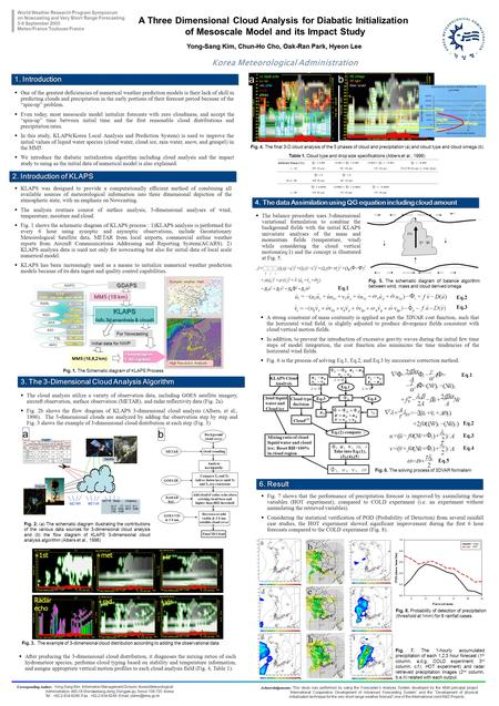 Korea Meteorological Administration Yong-Sang Kim, Chun-Ho Cho, Oak-Ran Park, Hyeon Lee  One of the greatest deficiencies of numerical weather prediction.