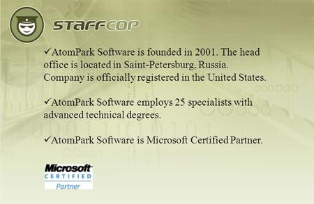 AtomPark Software is founded in 2001. The head office is located in Saint-Petersburg, Russia. Company is officially registered in the United States. AtomPark.