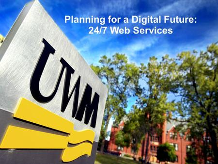 Planning for a Digital Future: 24/7 Web Services.