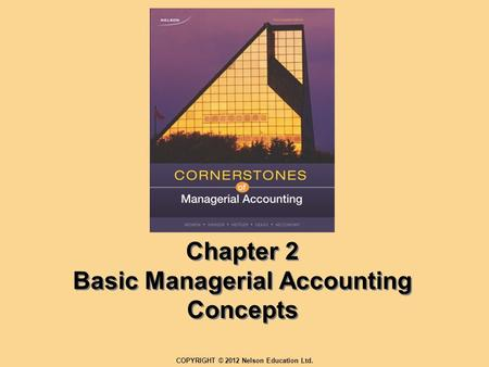 Chapter 2 Basic Managerial Accounting Concepts