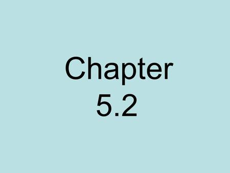 Chapter 5.2.