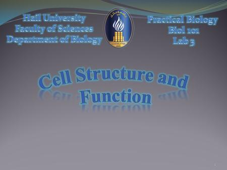 1. The cell is the structural and functional unit of all living organisms.  Researches had formulated the cell theory that has three principles: 2 