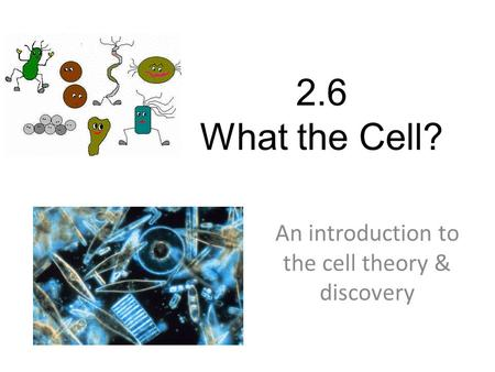 2.6 What the Cell? An introduction to the cell theory & discovery.