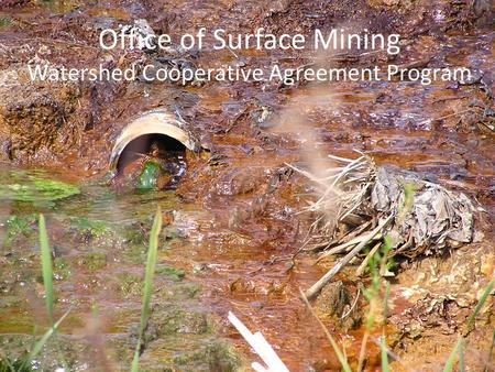 Office of Surface Mining Watershed Cooperative Agreement Program.