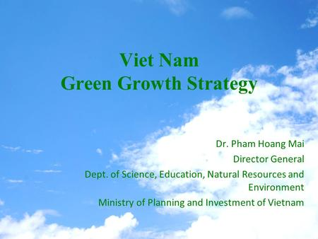 Viet Nam Green Growth Strategy