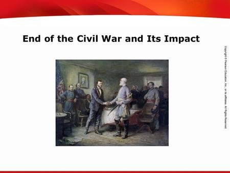 TEKS 8C: Calculate percent composition and empirical and molecular formulas. End of the Civil War and Its Impact.
