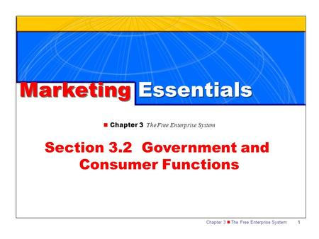 Section 3.2 Government and Consumer Functions