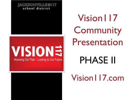 School district April 2013 Vision117 Community Presentation PHASE II Vision117.com school district.