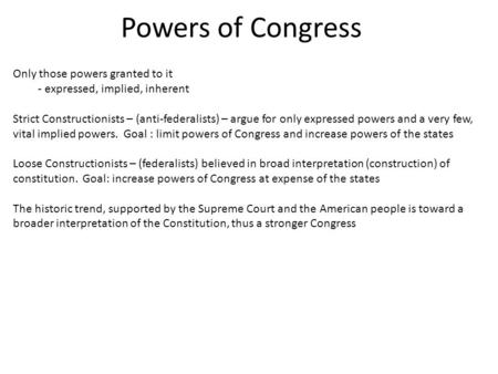 Expressed Powers Of Congress Examples Olivero
