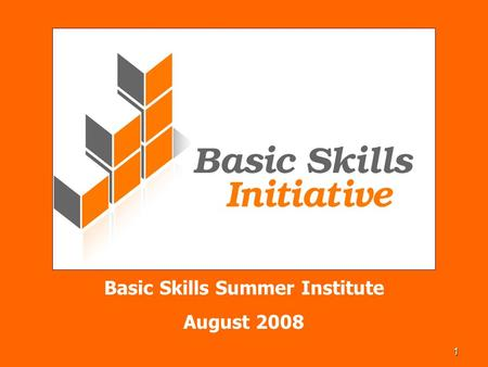 1 Basic Skills Summer Institute August 2008. 2 BSI Success Rates Do you know how many basic skills students succeed in basic skills classes? And why should.