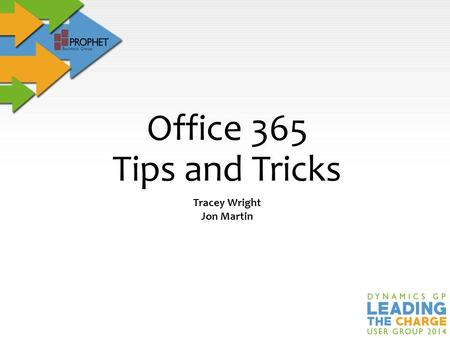 Tracey Wright Jon Martin Office 365 Tips and Tricks.
