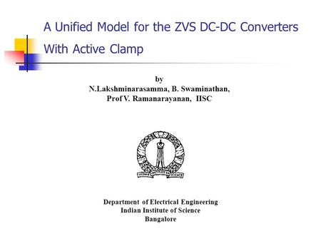 A Unified Model for the ZVS DC-DC Converters With Active Clamp