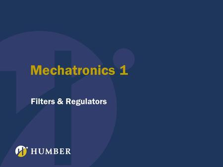 Mechatronics 1 Filters & Regulators. 2 Power Supply Review –transformer –rectifier –filter –regulator Rectifier Review –diode review –half wave operation.