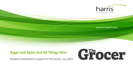 Sugar and Spice and All Things Nice Research conducted in support of The Grocer, July 2015.