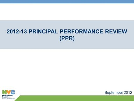Principal Performance Review (PPR)