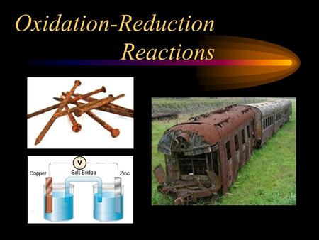 "Oxidation-Reduction Reactions. ""LEO says GER"" L E lose electrons, oxidize O says G E gain electrons, reduce R."