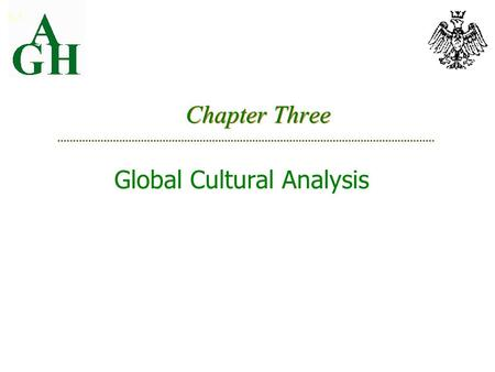 Chapter Three Global Cultural Analysis 3-1. Culture Across Countries High vs low context cultures Silent languages Hofstede's cultural dimensions Gannon's.