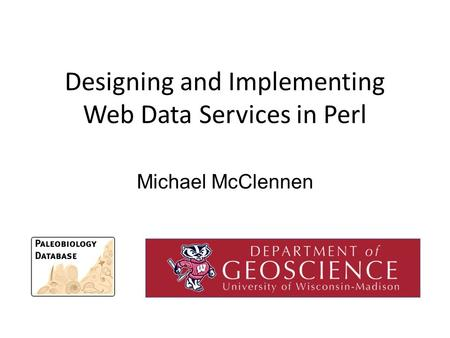 Designing and Implementing Web Data Services in Perl