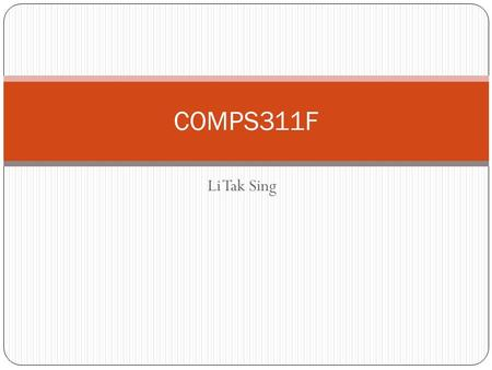 Li Tak Sing COMPS311F. A web page that counts the number of times that you have visited the page. You can try the page at: