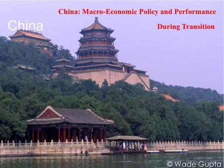 China China: Macro-Economic Policy and Performance During Transition.