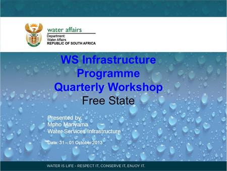 WS Infrastructure Programme
