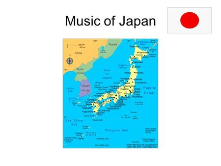 Music of Japan. Overview Region=East Asia Consists of 3,000 islands, capital=Tokyo Constitutional monarchy with prime minister History traces back to.