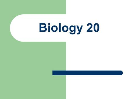 Biology 20. What is the first thing that comes to mind?