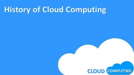 CLOUD COMPUTING. What is cloud computing ? History Virtualization Cloud Computing hardware Cloud Computing services Cloud Architecture Advantages & Disadvantages.
