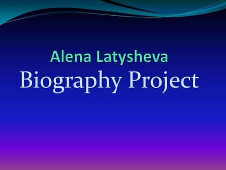Biography Project. By Alena Taylor Swift Born on December 13, 1989 in Reading, Pennsylvania. She is best recognized for being a well known country/pop.