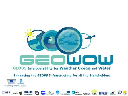 EC Grant Agreement no. 282915 GEOSS Interoperability for Weather Ocean and Water Enhancing the GEOSS Infrastructure for all the Stakeholders.