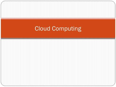 Cloud Computing. What is it? Cloud computing is the concept of where a large number of computers are connected to a large storage computer, where each.