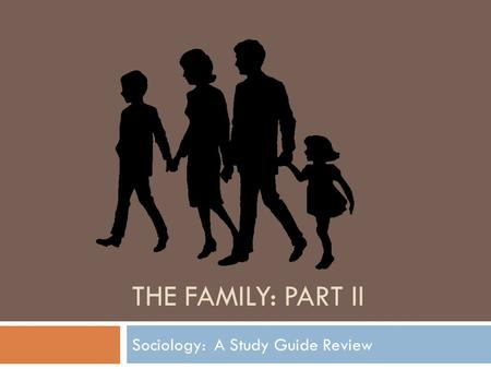 How far can sociologists agree that there is equality between men as woman in the family?