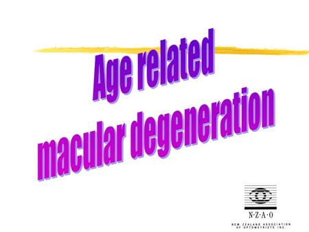 Age-related macular degeneration (ARMD) Damage or breakdown of the macula that occurs with age.