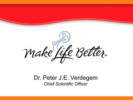 Dr. Peter J.E. Verdegem Chief Scientific Officer.