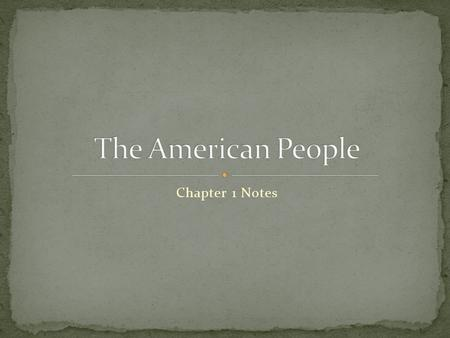 Chapter 1 Notes. As American citizens, we make a commitment to the nation and to the values and principles that are part of the United States democracy.