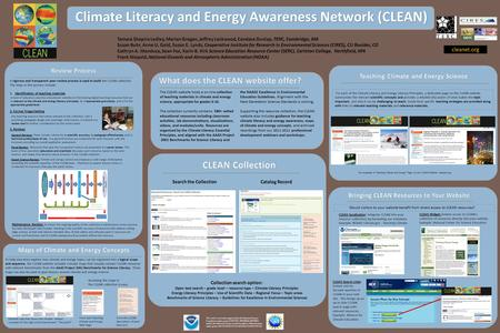 For each of the Climate Literacy and Energy Literacy Principles, a dedicated page on the CLEAN website summarizes the relevant scientific concepts and.