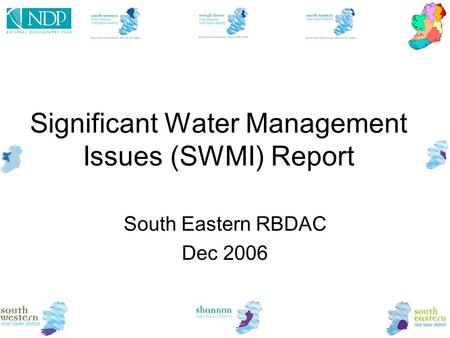 Significant Water Management Issues (SWMI) Report South Eastern RBDAC Dec 2006.