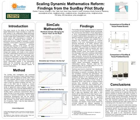This poster reports on the efforts of the SunBay Digital Mathematics Project (SunBay) to create the links needed to use collaborative digital technology.