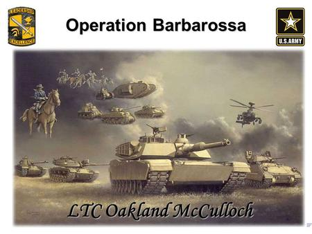 Operation Barbarossa LTC Oakland McCulloch. Outline Non-Aggression Pact and Polish Deal Operational Goal of the German Invasion Plans and Preparation.