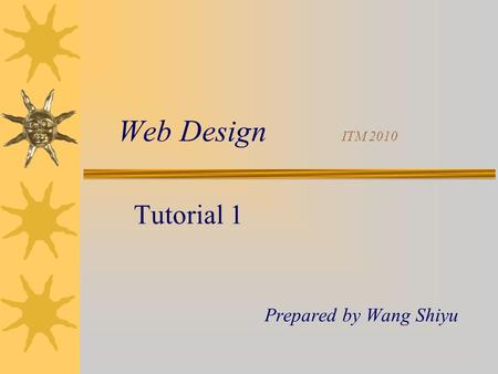 Web Design ITM 2010 Tutorial 1 Prepared by Wang Shiyu.