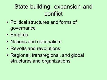 State Building Expansion And Conflict Portugal