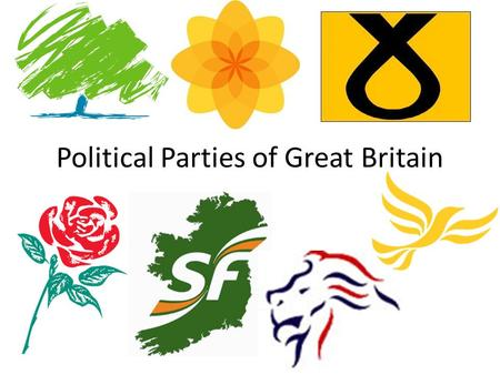 Political Parties of Great Britain. Conservatives (Tories) Main party on the right. Traditionally, more pragmatic and moderate than Thatcher. Noblesse.