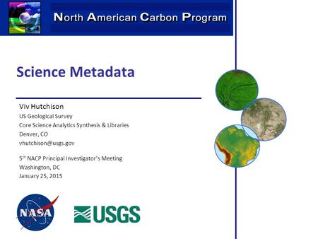 Science Metadata Viv Hutchison US Geological Survey