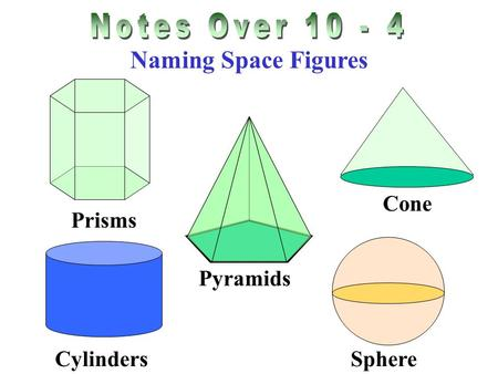 Notes Over Naming Space Figures Prisms Cone Pyramids Sphere