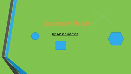 Geometry In My Life By: Mason Johnson. Sphere A sphere is a round shape with no faces, vertices or edges for an example this foam basketball is a sphere.