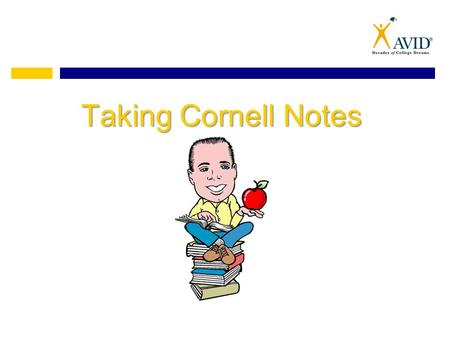 Taking Cornell Notes. What do Cornell Notes Look Like?